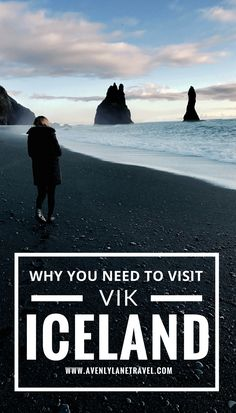 One of the best things to do in Iceland is visit the black sand beach of Vik, Iceland!  Click through to read more about this charming beach town!