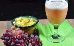 Suco Detox de Uva com Abacaxi Para Ajudar na Digestão