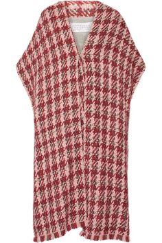 Gabriela Hearst Elizabeth reversible wool-blend-tweed coat $2,895 Multicolored wool-blend tweed Concealed snap fastening at front 50% merino wool, 45% wool, 3% viscose, 2% linen; lining: 100% wool Dry clean Designer color: Rose/ Burgundy  Made in Italy