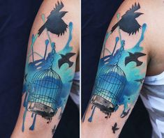 06646b33fd 1001 + ideas de tatuajes acuarela para hombres y mujeres