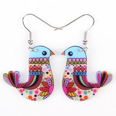 Delightful Multi-Color Birdie Earrings