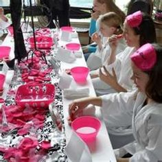 little girl spa party. So cannot wait to do these with my girls!