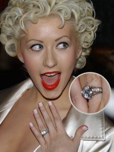 Celebrity Engagement Rings Christina Aguilera