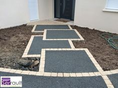 Garden Design A well thought out and lovingly created garden path cause a garden come alive. It guides us to experience the magic and beauty of a garden fully. Driveway Design, Path Design, Garden Design, Landscape Design, Backyard Projects, Backyard Patio, Backyard Landscaping, Garden Paving, Garden Paths