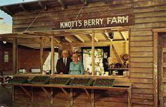 Knott's Berry Farm original berry stand Mr. & Mrs Walter Knott