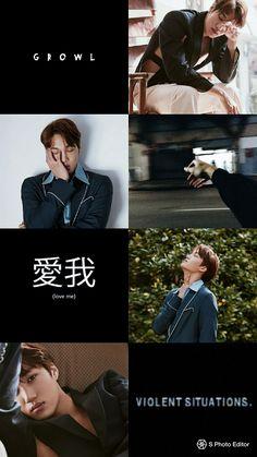 Our social Life Iphone Wallpaper Quotes Funny, Kpop Wallpaper, Asian Wallpaper, Kai Exo, Chanyeol, Exo Lockscreen, Kim Jongin, Exo Members, Kpop Aesthetic