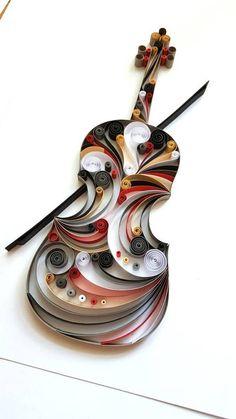 Violin Paper Art Viola Wall Art Violin Home Decor Gift for