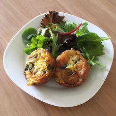 Easy Crustless Spinach Mini Quiche Recipe