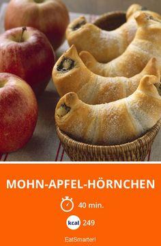 Mohn-Apfel-Hörnchen