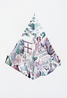 POLYGON - TRIANGLE - aquarelle