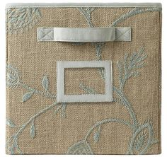 Embroidered Fabric Drawer from Home  Decorators