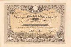 Bergbau- und Hütten-AG zu Stolberg am Harz Actie 100 Thaler 1.7.1861. Gründeraktie (Auflage 4750, R 8).
