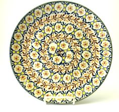 """Polish Pottery - 10"""" Dinner Plate - Fall Festival   The Polish Pottery Outlet"""