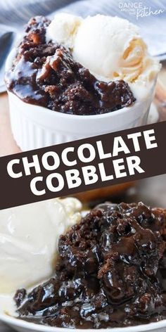 Chocolate Cobbler : This quick dessert has a warm, fudgy pudding covered with a moist chocolate cake. It's like a chocolate lava cake, but wayyyy easier and just as delicious! Smores Dessert, Bon Dessert, Dessert Ideas, Dessert Food, Dessert Bars, Cake Ideas, Chocolate Cobbler, Chocolate Lava Cake, Chocolate Desert Recipes