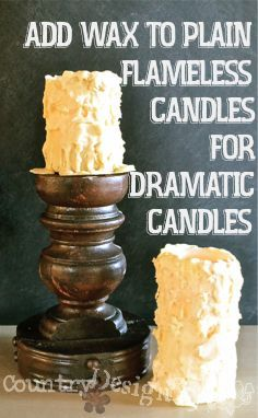 how to make designer candles at home