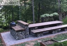 Gabion seating patio area. https://www.gabion1.com