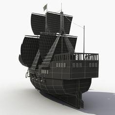 pirate ship 3d model - Google Search