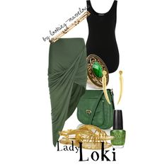 Lady Loki - this was in the geek section, but isn't it a nice outfit even without thinking of Loki?