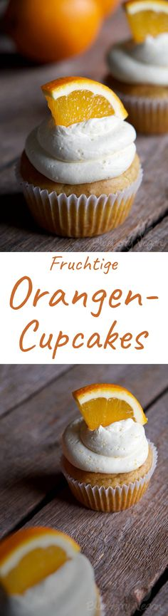 Orange Zitrone Cupcakes Vegan