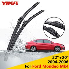 """YIKA 22""""+20"""" For Ford Mondeo Mk4 (2004-2006) Glass Wiper Washer Blades U-type Rubber Car Windshield Wipers ISO9001"""