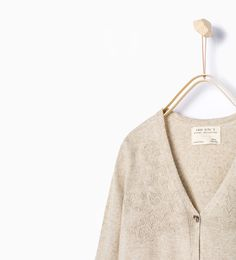 Image 1 of Open-work knit jacket from Zara