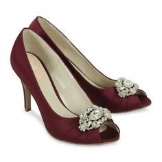 Elegant Steps Paradox Pink Tender Claret Bridesmaid or Party Shoes