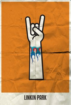 Rock band minimalist poster - Linkin Park