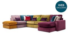 RHF Corner Sofa with Chaise End - Harlequin - Gorgeous Living Room Furniture from Furniture Village