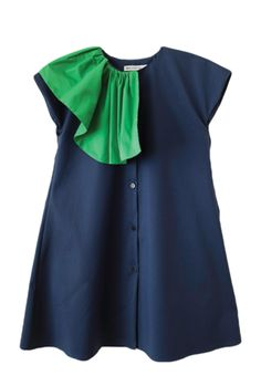 Wolf and Rita Dress Amalia in Blue - Back in Stock! Kids Outfits Girls, Little Girl Dresses, Girl Outfits, Girls Dresses, Zara, Little Girl Fashion, Kids Fashion, Dress Anak, Mode Top
