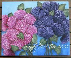 30x30 Gallery Wrapped Canvas Hydrangeas  (C)Sandy McTier  #sandymctierdesigns #hydrangeas #paintinghydrangeas