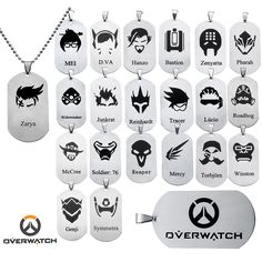 Overwatch 21 Logo Stainless Steel Necklace OW Accessories