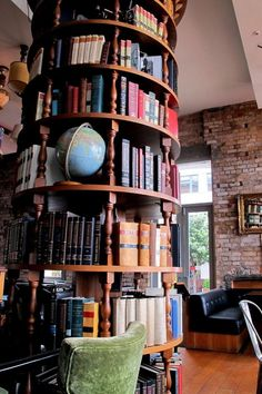 Unique bookshelf. If it spins, that would be a plus! #reading