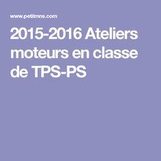2015-2016 Ateliers moteurs en classe de TPS-PS