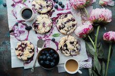 Blueberry Scones with Lemon Poppyseed Glaze