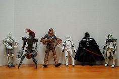 Lot of 6 Star Wars 2004 Action Figures #Hasbro
