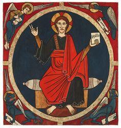 Christ in Majesty, Baldachin, Church of Sant Martín, Tost, Spain (c. 1220)
