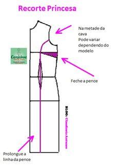 Modelagem Vestido Recorte Princesa - Claudineia Antunes                                                                                                                                                                                 Mais