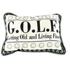 Getting Old Golf Decorative Throw Pillows