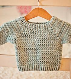 Ravelry: River Coast Sweater pattern by Mon Petit Violon Crochet Baby Sweater Pattern, Crochet Baby Sweaters, Baby Sweater Patterns, Baby Girl Crochet, Crochet For Boys, Crochet Cardigan, Baby Patterns, Crochet Clothes, Crochet Patterns