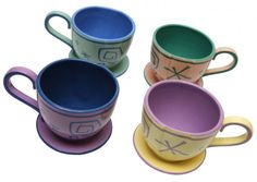 "Fun new mugs coming to Disney World in 2016 - Inspired by the ""Mad Tea Party"" attraction in Fantasyland"