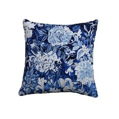 1 LARGE Blue Navy /& GOLDEN FLOOR CUSHION COVER POLYESTER//Silk LIVING ROOM Floral