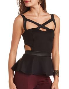 trendy cutout top<3 Get 10% off with promo code STURATE13