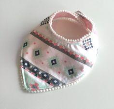 Pink Aztec Bandana Bib by ShopBumbleBerryBaby on Etsy