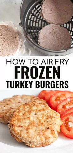 Air Fryer Frozen Turkey Burger