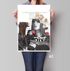 Affiche surréaliste, affiche cheval - Affiche format A2 : Collages par kiki-collagist