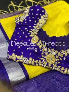 Needles n Threads, Nish*tha celebrations,Kings court avenue, Nellore Cutwork Blouse Designs, Kids Blouse Designs, Wedding Saree Blouse Designs, Pattu Saree Blouse Designs, Hand Work Blouse Design, Simple Blouse Designs, Embroidery Neck Designs, Stylish Blouse Design, Blouse Neck Designs