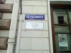 Brasov, panoul prezinta si istoricul strazii.