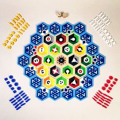 Settlers of Catan board game perler project by starkdesign