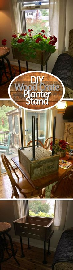Check out how to make a DIY planter stand from wood crate @istandarddesign