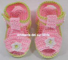 Sandalias bebé 0-3 meses. Hilo de verano.